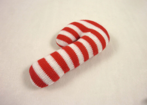 Xmas Knitting Candy Cane Dog Toy