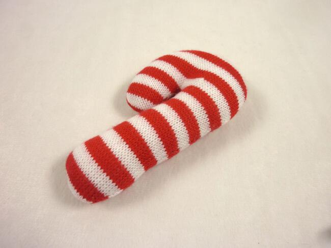 Xmas Knitting Candy Cane Dog Toy