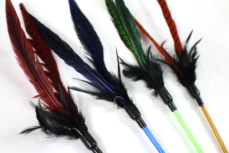 Frenzy Pheasant Feather Cat Teaser Toy Inlong