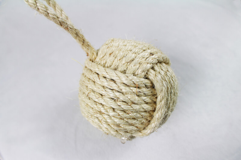 Handcraft Knotted Sisal Rope Ball Inlong