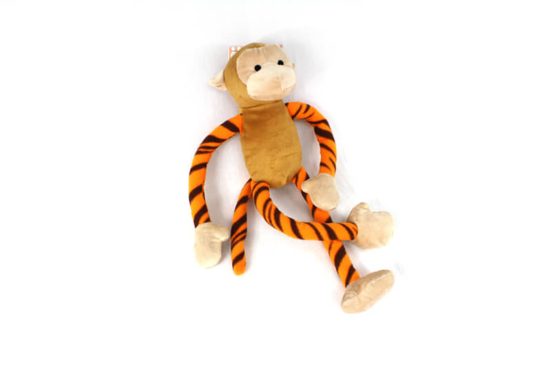 Plush Jungle Monkey Dog Toy with Extra Long Arms and Legs with Squeakers