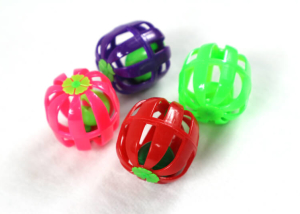 Square Type Plastic Cat Toy Ball