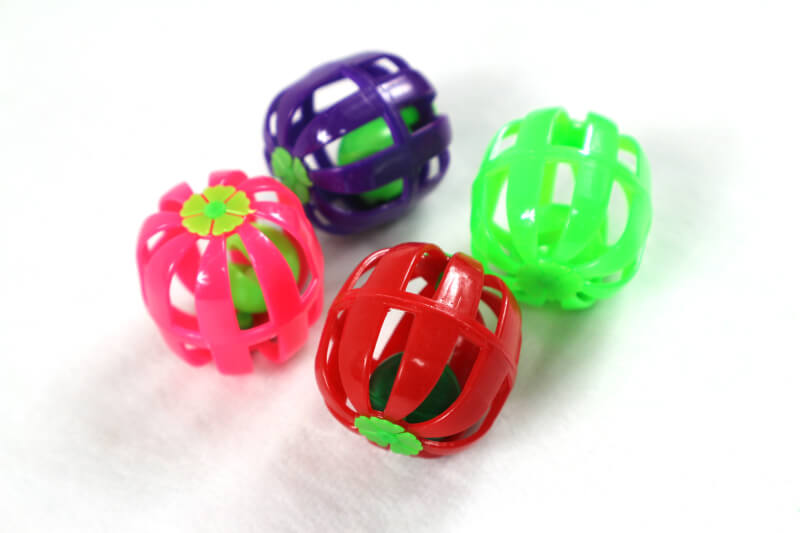 Plastic Toy Balls : Square type plastic cat toy ball inlong
