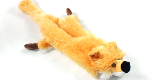 Plush Fox Stuffing Free Soft Dog Toy