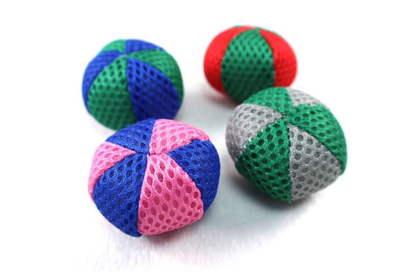 Colorful Mesh Soft Catnip Kitten Toy Ball