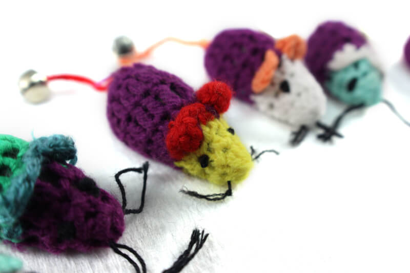 Hand Knit Wool Mouse Toy