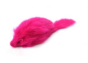 Bright Furry Long Hair Mouse Cat Toys