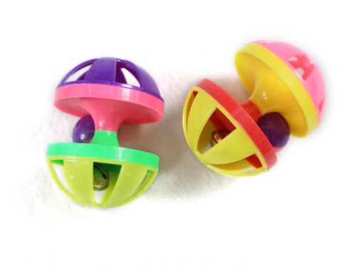 Plastic Dumbbell within A Ball Cat Toy